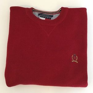 Tommy Hilfiger Crewneck Sweater 100% Cotton Red L